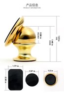 badge iphone - 2016 Mobile Phone Bracket Degree Rotating Magnetic k gold plated metal badge Car holders for samsung S7 S7 Edge iphone s HTC SONY LG