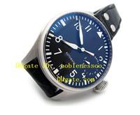 al por mayor los relojes de alta potencia-Nueva marca de lujo de calidad superior para hombre IW501902 Big Pilot Relojes 7day de alta calidad del acero del dial Negro 7 Días De Reserva Automática del reloj para hombre