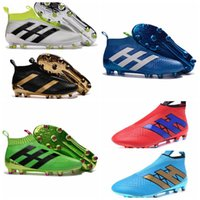ace shoes - No lace up Football Boots Outdoor ACE Purecontrol Soccer Boots FG AG Mens pure control Soccer Cleats Shoes Green Black Gold Blue White