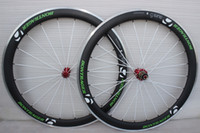 Wholesale with ceramic hubs alloy carbon Wheels mm green white matte finish Aluminum Carbon Wheelset red hubs white spoke