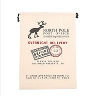 Wholesale Christmas gift bag Christmas bag large tote canvas bags cotton bags A lovely gift bags
