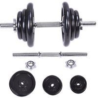 Wholesale 44 LB Weight Dumbbell Adjustable Cap Iron PlatesGym Barbell Body Workout