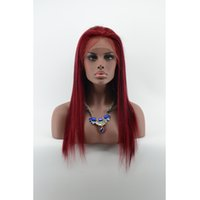 best bug light - Long Silk Straight Lace Front Wigs With Baby Hair BUG Color Brazilian Human Hair Wigs Best Full Lace Wigs