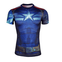 Wholesale 2016 Hot Selling Marvel s The Avengers Cycling Jersey Tops Only Breathable Short Sleeve Bike Jersey Tops Cycling Clothing Outlet