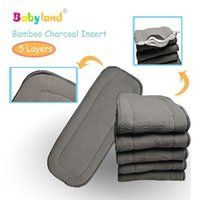 Wholesale Bamboo Charcoal Cotton cloth diapers Inserts Nappy changing mat Baby Diapers Reusable diaper changing pad