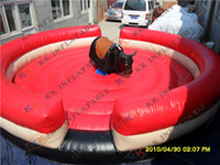 animal mechanical games - Price mechanical bull riding for sale Round inflatable sport rodeo bull game