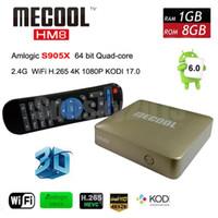 android movie player - Android Smart TV Box Amlogic S905X Quad Core G G MECOOL HM8 Mini PC Wifi KODI K H OTG Media Player D Home Movie Set Top Box