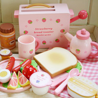 baby breakfast - Pretend Play Kitchen Toys Breakfast set wooden toys good gift for baby kids