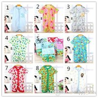 Wholesale Boys Sandals Baby Jumpsuit New Kids Summer Cotton and Comfortable Jumpsuit Hot Girl Boy Round Collar and Short Sleeve Jumpsuit