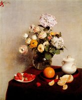 abstract painters famous - France Famous Painter Henri Fantin Latour oil painting print on canvas flowers fruit strawberry orange wall Unframed Photo Room Still life