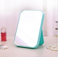 Wholesale 2016 toilet Cosmetic mirrors vanity mirror collapsible different colors portable make up mirror foldable folding table for girls