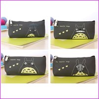 Wholesale Kawaii Japan TOTORO School Pencil Bag Students Pen Case Girl s Cosmetics Purse Bag Wallet Coin Purse Stationery Promotional Gift