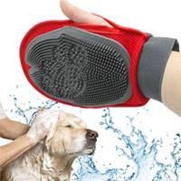 Wholesale Cat Pet Dog fur Grooming Groom Glove Mitt Brush Comb Massage Bath Brand New big dog wash tool