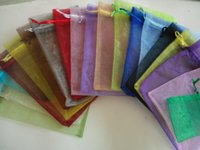 Wholesale Hot sell Drawstring organza bag Wedding Gift Bags Organza Bag for Gift Packing with cm lowest price