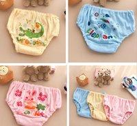 Wholesale 24pcs NEW Baby Washable Diapers Children Reusable Underwear pure Cotton mesh Breathable cartoon Diaper Cover Training Pants size