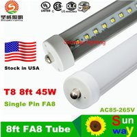 Wholesale 45W T8 Led Tube Light Single Pin FA8 m ft SMD2835 Led Tubes Lights Warm Natural Cool White with FCC UL Tubes