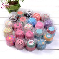 Wholesale Hot Selling Mix Color set Cut Christmas Birthday Wedding Cake Decorating Tools Paper Muffin Cupcake Baking Cups