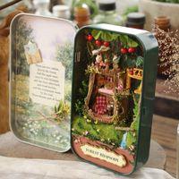 Wholesale Forest Rhapsody Q001 Iron box DIY doll house miniature dollhouse D tree house