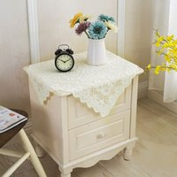 Wholesale Promotion Lace Tablecloth Slip resistant Beige Table Cover for Wedding Party Multi purpose Table Cloth Home Decor JM0114 smileseller