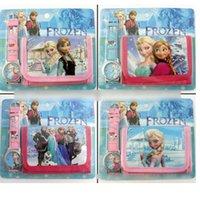 belt buckle purse - Monster High Frozen Anna Elsa despicable me in Purse Wallet and watch sets kids children quartz boys girls Christmas gift watches