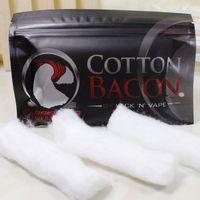 Wholesale olesale Cotton Bacon RDA Cotton For RDA RBA Atomizer e cig DIY Electronic Cigarette Heat Wire Organic Cotton
