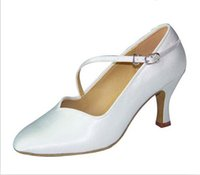 aa stocks - 2016 fashion satin leather materil Latin Tango Salsa Ballroom dance shoes for women girl cm heel worldwide in stock
