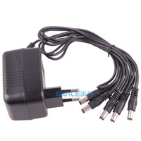 Wholesale 220V EU Effects Power Supply Adapter DC V Way Out Cable Cord For Guitar Pedal Fonte New H210891