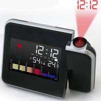 Wholesale Digital Time Projector LED Alarm Clock Weather Station Thermometer Novelty Gift