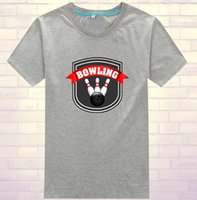 Wholesale Cotton bowling T shirt Quality bowl sport wear Professional soft clothing Fashion leisure sportwear