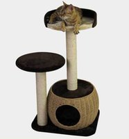 Wholesale A mall Cat Climbing Frame Wooden Woven Cat Cat Platform Column