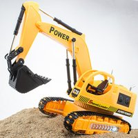 Wholesale Kids Toy CH Wireless Remote Controlled Chargeable RC Engineering Vehicles Excavator Navvy Rooter with Light