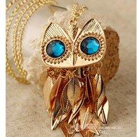 Collier Pendentifs Nouveau Style Vintage Hommes Femmes Accessoires de Mode Owl Collier Chaînes Colliers