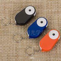 Wholesale hot sale Useful Fashin Mini Pocket Folding LED Light X Loupe Magnifier Magnifying Glass with Keychain F589
