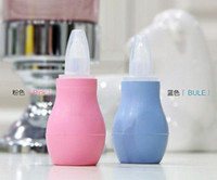 aspirator tip - 2 Colors Baby Newborns Nasal Vacuum Mucus Suction Aspirator Soft Tip Runny Nose Cleaner