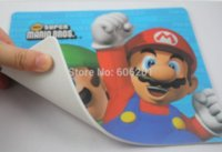Wholesale Super Mario Bros Laptop Computer Mouse Mat Mousepad Cartoon Design Mouse Pad quot L quot W mouse pad red mouse wall