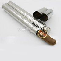Wholesale hot Selling Stainless Steel Pocket Humidor Pipe Cigar Pipe For Travel Cigar Humidor Tube