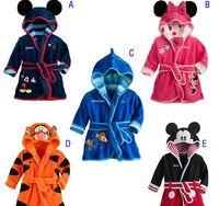 bath gown styles - Bathrobes For Children Kids Boy Girl hooded Terry Bathrobe Winter Baby Minnie Bath Towel Velvet Pajamas Gown Robes