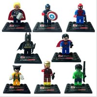 Wholesale 2016 new D818 superhero avengers alliance insted seed educational toys selling amount lego undertakes