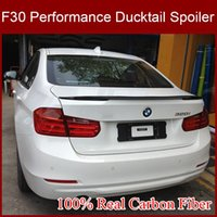 Wholesale Real Carbon Fiber Car Spoiler For BMW Series Rear Spoiler Wings For BMW F30 New Performance Type Car Spoiler