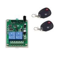 CC 12V 24V 2 CH 2CH RF Sistema sin hilos del interruptor teledirigido, 2 transmisores de x + receptor, 315 / 433.92 MHZ