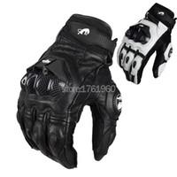 Wholesale Hot Sale Professional Jaguar Furygan AFS Motorcycle Racing Gloves Carbon Fiber Leather Guantes Sportwear black white