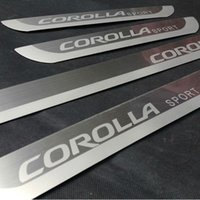 Wholesale For Toyota Corolla Ultrathin Stainless Steel Scuff Plate Door Sill Threshold Strip Welcome Pedal Car Accessories