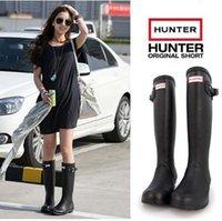 Wholesale 2016 new HUNTER rain boots Wellington Boots Best Selling Ms glossy Hunter Wellington Rain Boots Winter Warm Boots
