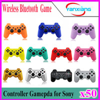 Wholesale 50pcs High quality Wireless Bluetooth Controller for Sony Playstation PS3 A variety of color choices ZY PS