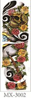 beautiful scary - New Waterproof Temporary Whole Hand Cool Beautiful Tattoo Sticker with Scary Skull and Gold and Red Rose MX