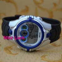 al watch - Ohsen New Color Funny BackLight Black Rubber Mens Women Digital Multifunction AL Stop Sport Watch Watches Blue