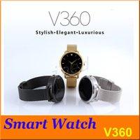 Puce Bluetooth V360 Montre Smartwatch avec Baromètre d'affichage LED Alitmeter Music Player podomètre pour Android IOS Mobile Phone gratuit DHL 5