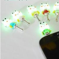 Wholesale Novel Noctilucent Cute Doll Dustproof Plug General Accessories Luminous Moblie Phone Dust Plug with High Quality