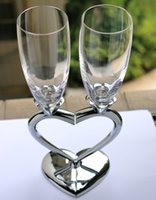 beer glass gift sets - 2016 Tazas Beer Glass Set Cup Romantic Metal Nuptial Ornamental Heart shaped Wedding Wedlock Decoration Glassware Gifts