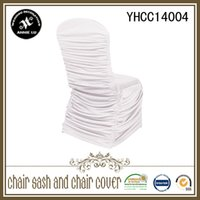 ruched chair covers - 100pc standard size ruched spandex chair cover wedding kinds color can be choose